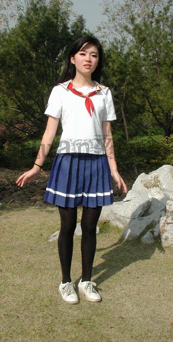 #36745;日南高中女生春夏制服正面 拷#36125;