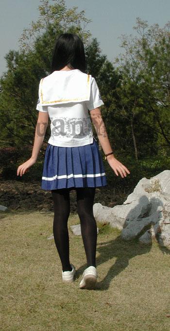 #36745;日南高中女生春夏制服背面 拷#36125;