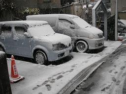 昨夜から関東でも積雪。