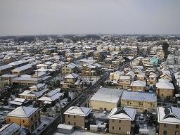 埼玉の実家近くの雪景色