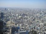 新宿野村ビルの50階展望台から見た中野方面。