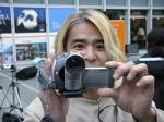 例によってビデオカメラ片手に大活躍の山下政人氏。お互いに撮り合い(笑)。