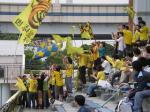 栃木SCのサポ。栃木県歌もまじえたユニークな応援。