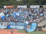 横浜から近いだけに多くのサポが来場。快勝に大喜び。
