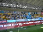 横浜FC側ゴール裏。人数はそれほど多くないが見慣れた風景(笑)。