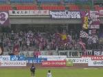 J1残留を信じ駆けつけた京都サポ。舞妓をデザインした応援旗も。