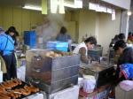 小瀬での甲府-福岡戦の売店。フランクフルト、じゃがバター、おでん・・・。