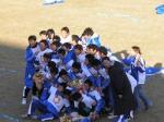 この試合を最後に佐川東京との合併で消滅する佐川大阪。最終戦を勝利で飾った選手は記念撮影。