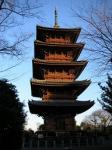 池上本門寺の五重塔。