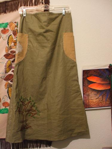 th_ヘンプスカート 薄緑 後ろ