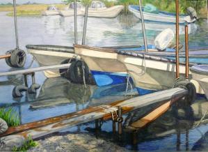 仕事明けの舟たち
