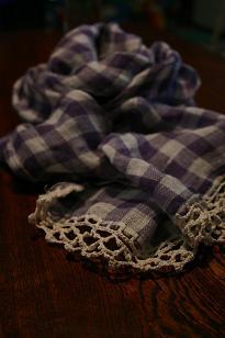nico ふち編みストール