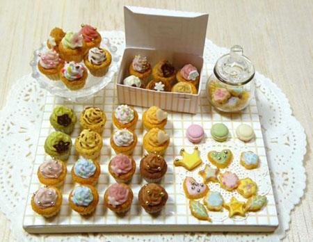 カップケーキ ミニチュア ドールハウス