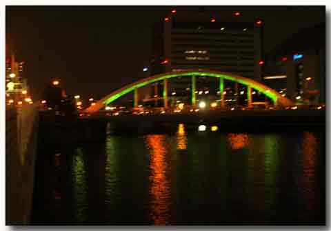 帰路の大正橋。
