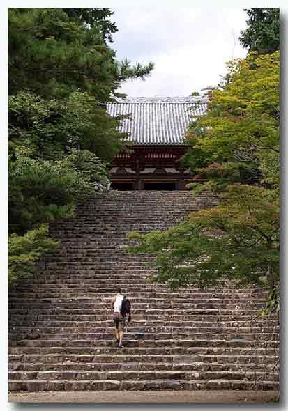 石段が多いお寺ですね。