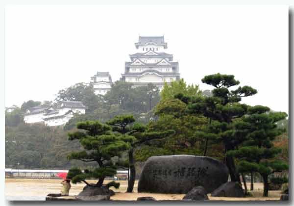 雨の世界遺産白鷺城