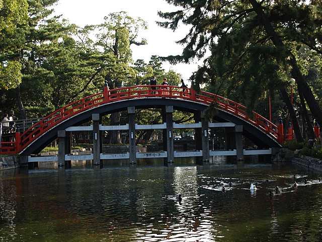 住吉大社の太鼓橋。