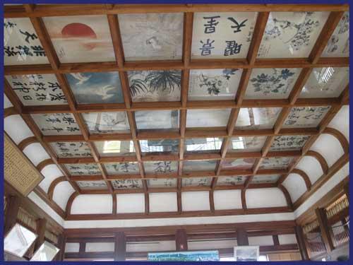 天守閣の天井
