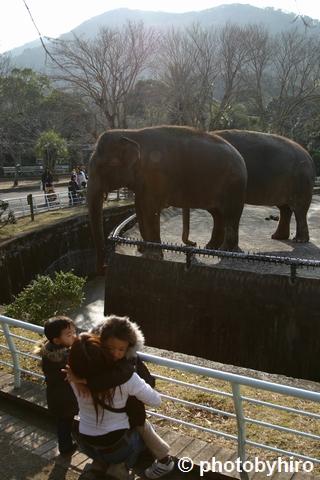 動物園での親子1