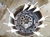 s-二次空気用の穴