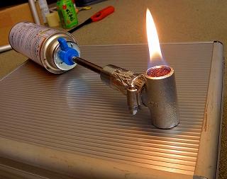 s-簡易シングルバーナー燃焼試験