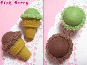 コーン付きチョコレート&抹茶のアイス