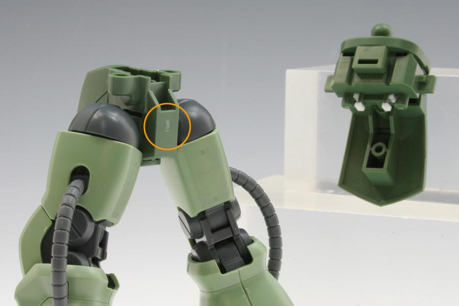 HGUC ザクII F2型 プロポーション改修
