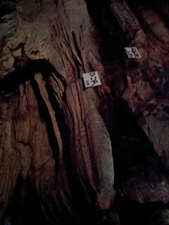 龍河洞内 マリア様とお釈迦様