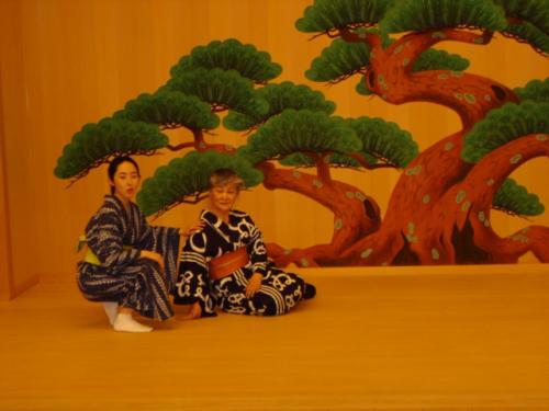 日本の夏のポーズ