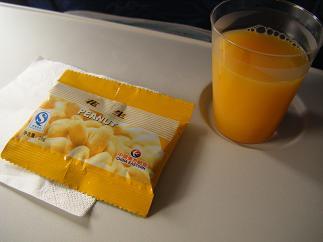 ピーナツ&オレンジジュース