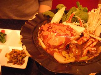 上海カニ鍋