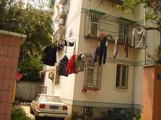 洗濯物を干す風景も素敵