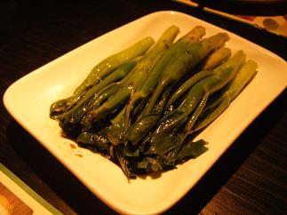 広東菜の炒め物