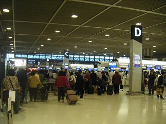 成田空港。帰って来ました~