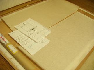 月山和紙を採寸