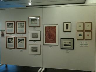 銅版画教室展示ブース