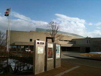 岩手県立美術館到着