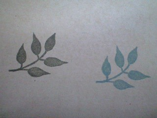 葉のはんこ1