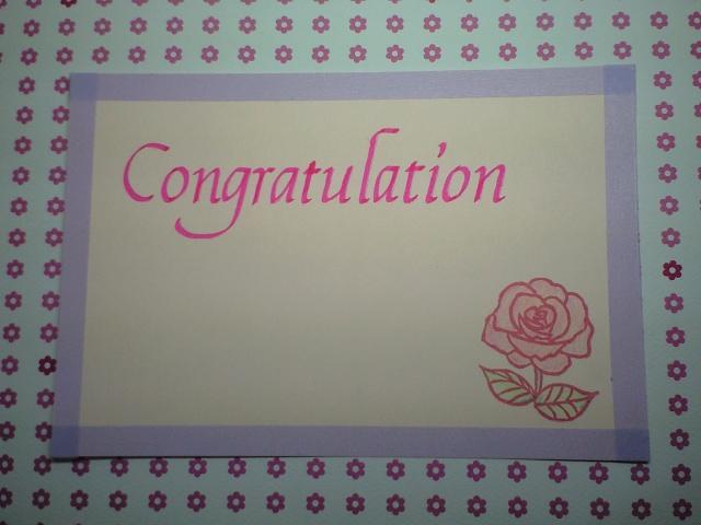 Congratulationのカード