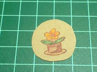 花の植木鉢はんこ