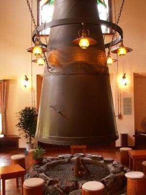 喫茶の暖炉