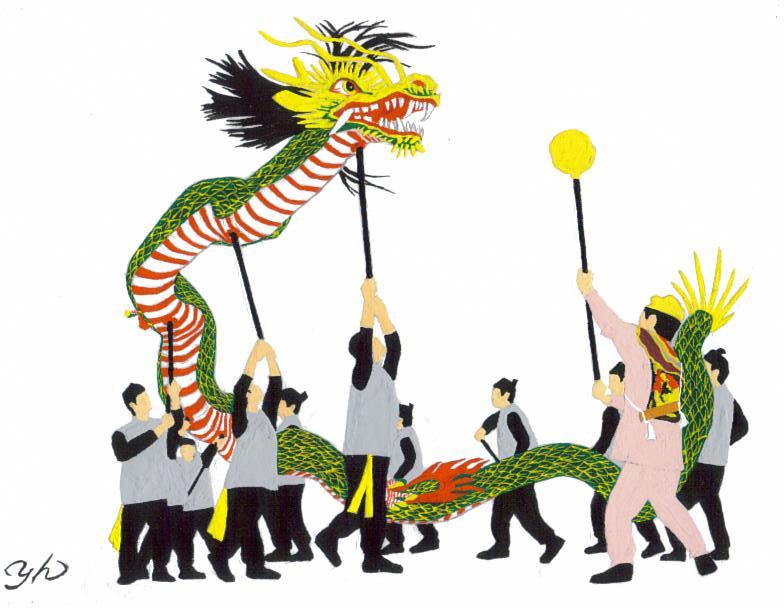 籠町 龍踊