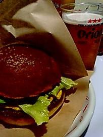 沖縄ハンバーグとオリオンビール