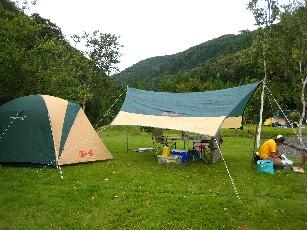 高山キャンプテント