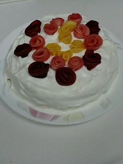 薔薇ケーキ自作