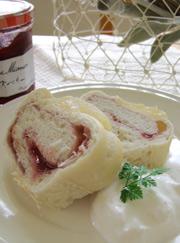 ラズベリー&洋梨パン