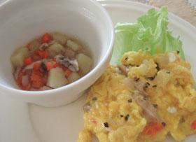 鶏肉&野菜スープで