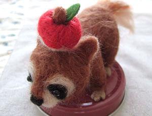 リンゴのせ♪