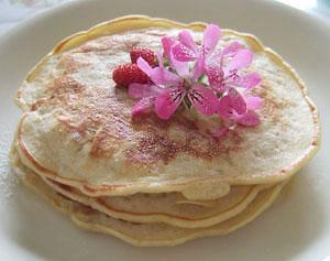 お花のパンケーキ