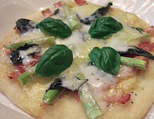 ローズマリー酵母ピザ